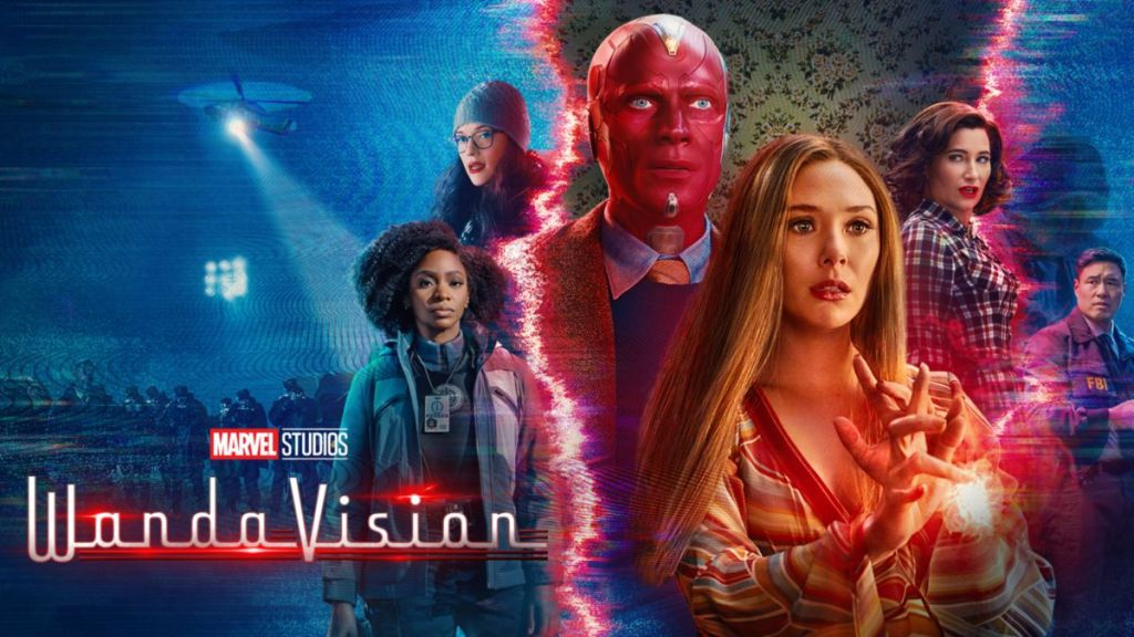 Image of the main cast of the Disney+  series 'WandaVision'