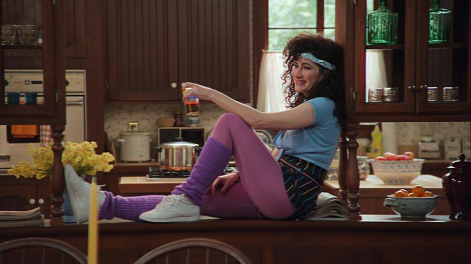 Kathryn Hahn as Agnes in the 1980s episode of 'WandaVision'