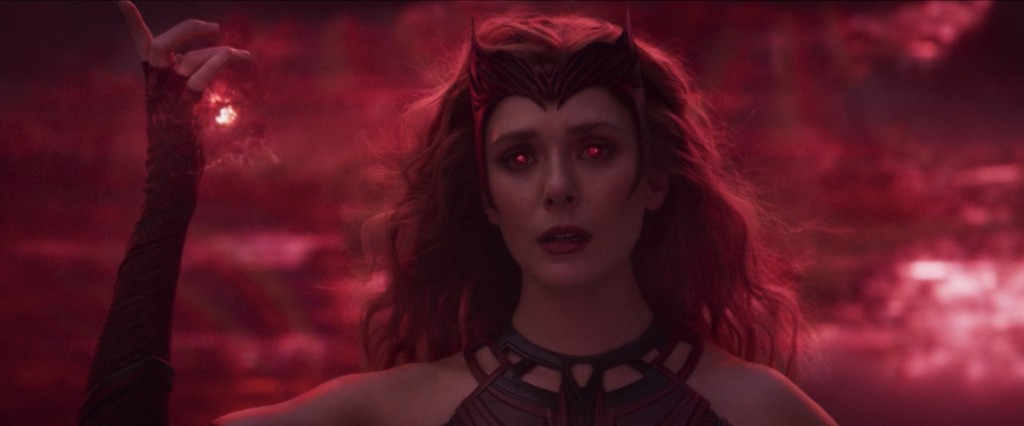 Wanda transforms into the Scarlet Witch on 'WandaVision'